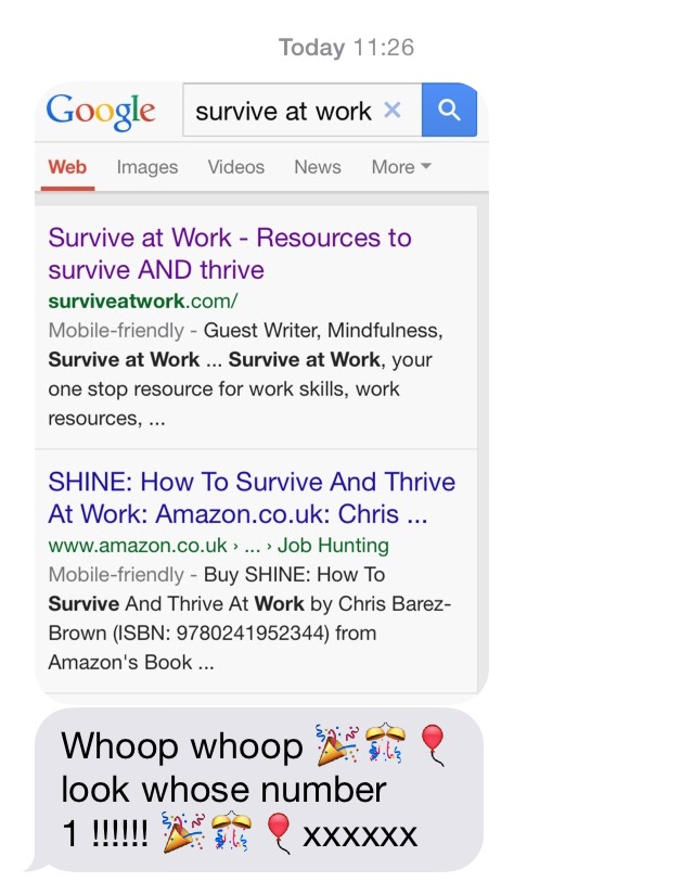 Number one ranked in Google, Celebration, Survive at Work, your one stop resource for work skills, work resources, work tools and work motivation. Hate work? Want promotion? Survive at work will help you thrive at work.